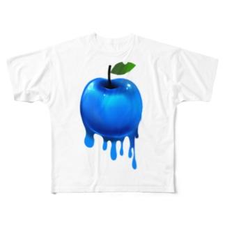 青い毒りんご? Full graphic T-shirts