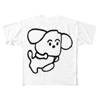 旅する犬 Full graphic T-shirts