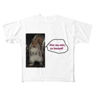 Give me nuts, ya bastard! Full graphic T-shirts