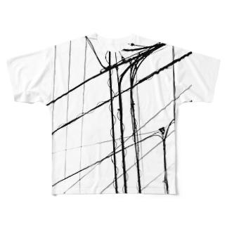 電線1 Full graphic T-shirts