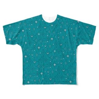Diamonds green Full graphic T-shirts