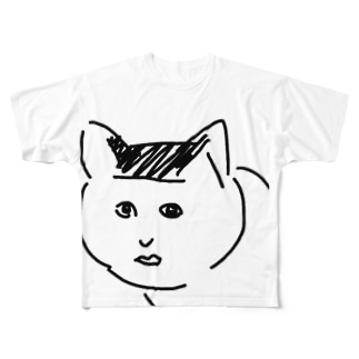 ブサ猫のり夫 Full graphic T-shirts