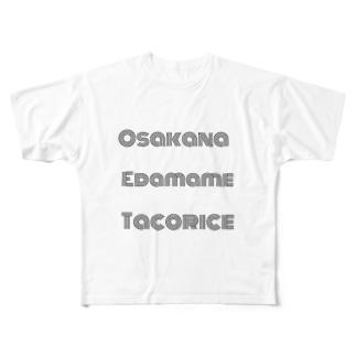 もぐもぐ~ Full graphic T-shirts