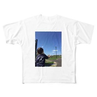 しゃぼん玉むすこと青空 Full graphic T-shirts