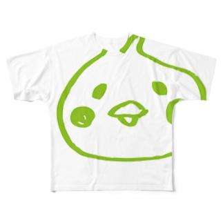 うららかぴよ美ちゃん Full graphic T-shirts