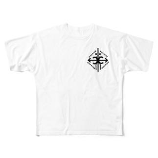 碇と矛 Full graphic T-shirts