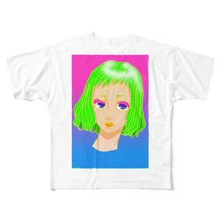 girl green Full graphic T-shirts