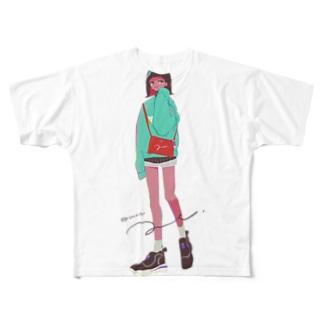 まちあわせ(妹) Full graphic T-shirts