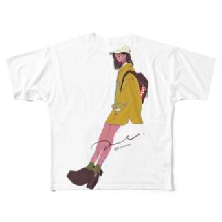 まちあわせ(姉) Full graphic T-shirts