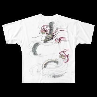 AnomaliA-Nachiの和風ドラゴン Japanese Dragon Full graphic T-shirts