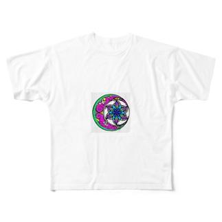 毒花 Full graphic T-shirts
