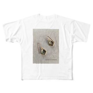ブラックシェル&クリスタル Full graphic T-shirts