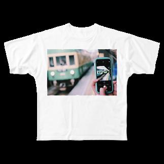 まー。の過ぎ去るは青春 Full graphic T-shirts