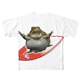アフウシサーフィン Full graphic T-shirts
