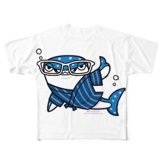 甚平ザメ Full graphic T-shirts
