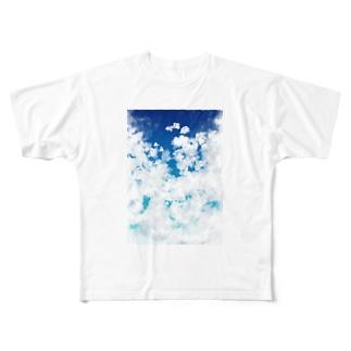 心落ち着く空 Full graphic T-shirts