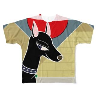 エジプトの犬 Full graphic T-shirts