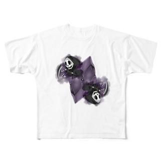 フェイクディガー「闇の黒い宝石」 Full graphic T-shirts