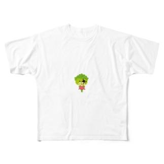 邪眼のレタスさん Full graphic T-shirts