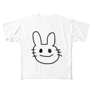 ぴょんちゃん Full graphic T-shirts