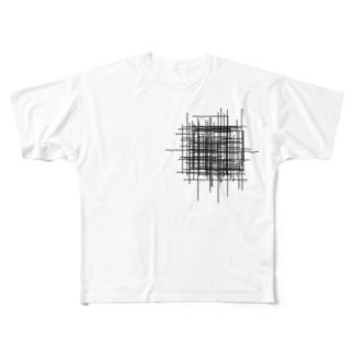 ムシャクシャの黒 Full graphic T-shirts