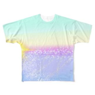 夜から目覚めた海 Full graphic T-shirts