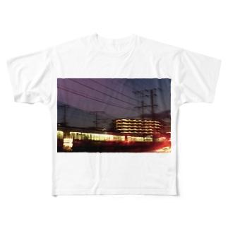 帰宅中 Full graphic T-shirts
