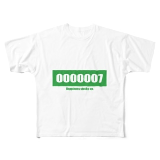 Happiness stacks up.007 Full graphic T-shirts