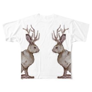ジャッカロープたち Full graphic T-shirts
