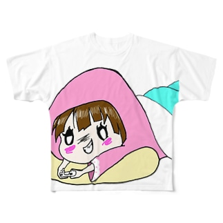 だらけちゃん Full graphic T-shirts