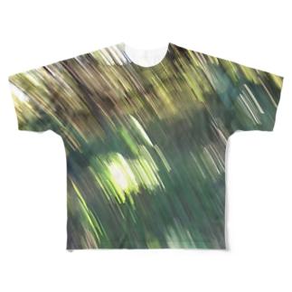 森にて手ブレ Full graphic T-shirts
