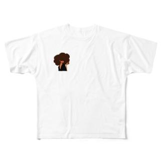 白枠なしNiinaグッズ Full graphic T-shirts