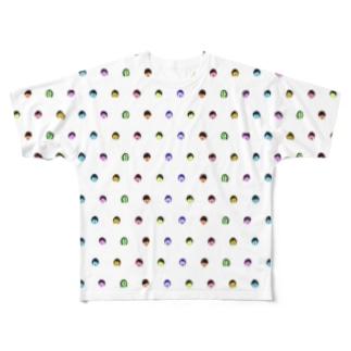 みきひとくんTシャツ(水玉) Full graphic T-shirts