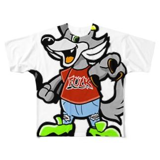 UNDER WOLFフルグラフィックTシャツ Full graphic T-shirts