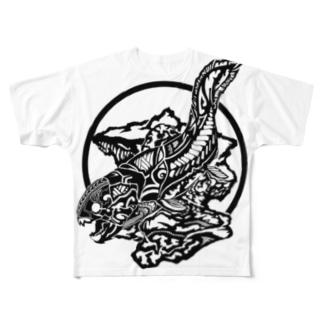ダンクルオステウス Full graphic T-shirts