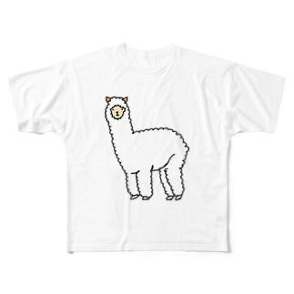 ただのアルパカ Full graphic T-shirts