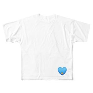 Blue Orange / ブルー・オレンジ Full graphic T-shirts
