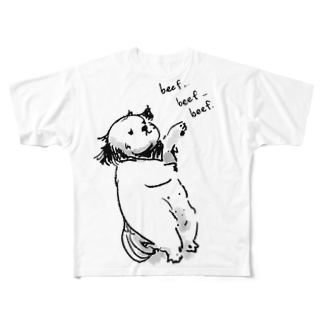 Kajinoのシーズー Full graphic T-shirts