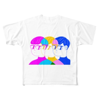 ナイスなグラス Full graphic T-shirts