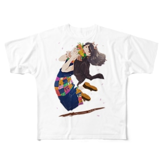 HAPPY.SHINGA Full graphic T-shirts