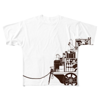 オウムと一輪車 Full graphic T-shirts