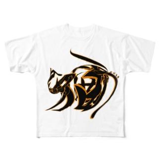猫又 Full graphic T-shirts