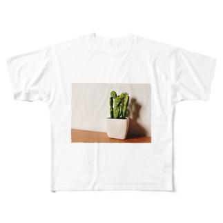 サボテン Full graphic T-shirts