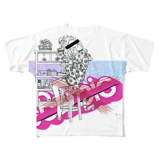 ピンクゆめかわいいパロディ Full graphic T-shirts