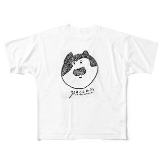猫のぽっきゃん Full graphic T-shirts