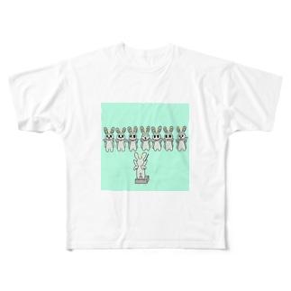 天使兎 Full graphic T-shirts
