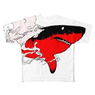 ホオジロザメ Full graphic T-shirts