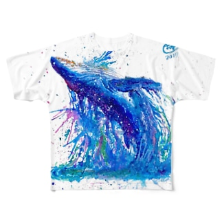 く じ ら Full graphic T-shirts