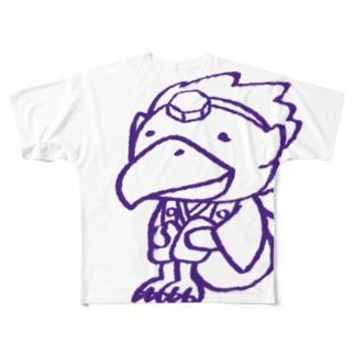 カラステングさん Full graphic T-shirts