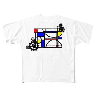 & GEARS(両面) Full graphic T-shirts
